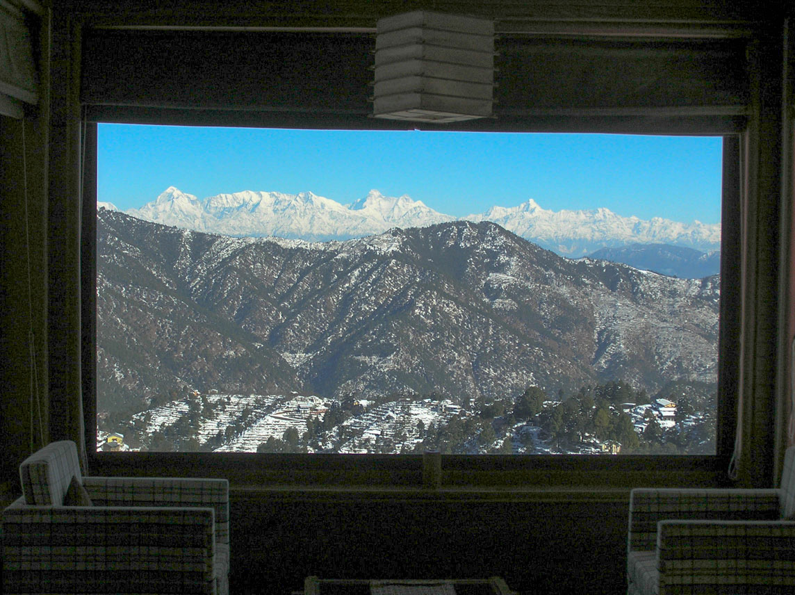 View of Himalaya from inside the Soulitude Room