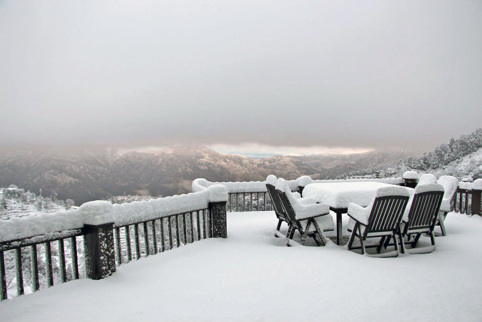 Snow at Soulitude Deck